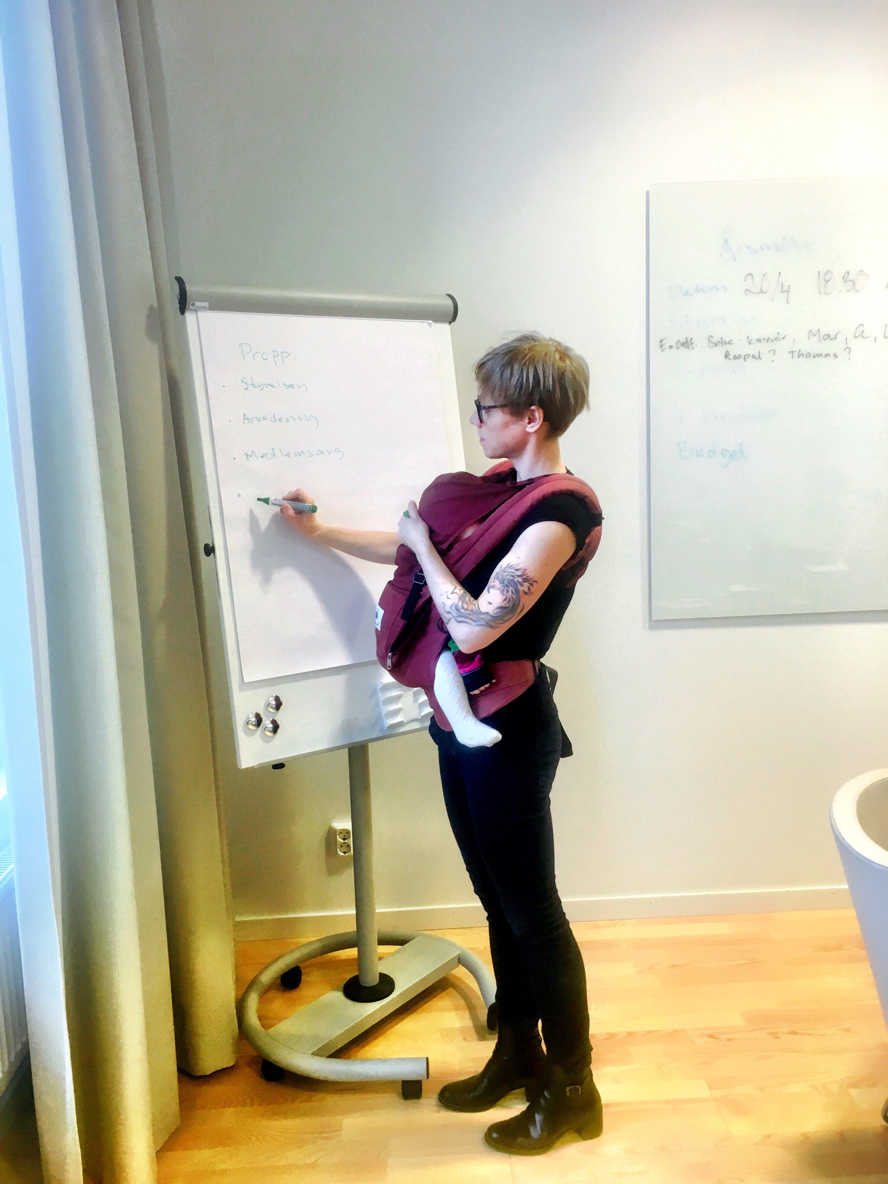Emma, ordförande i NSMA, på årsmöte i Lund.