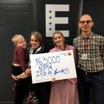 Sofie & Gunnar med den otroliga donationen på 163 000kr.