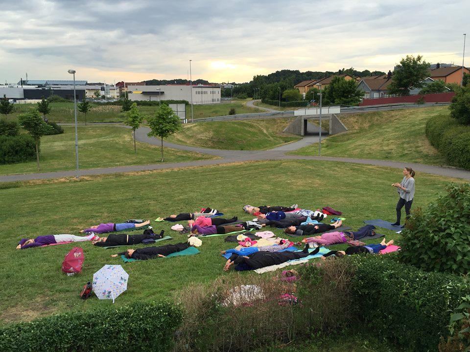 Yogaeventet hölls i Mölndal.